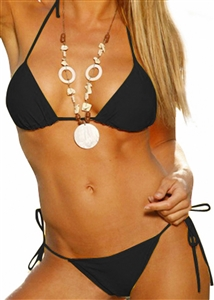 Tie Side Brazilian Back & Triangle String Top Bikini