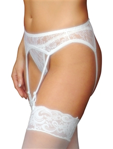 Flirtzy 2 pc. Lace Garter Belt Set With Matching Thong