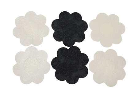 Fullness 3 Pairs of Lace Petal Disposable Nipple Cover Pasties