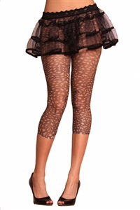Opaque Fishnet Legging Nylon/Spandex - Animal Print