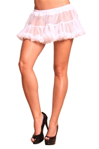 Lovely Day Lingerie Polyester White Sheer Petticoat - Ruffle Trim