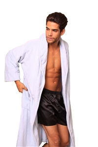 Lovely Day Lingerie Men's Bath Robe - Light Blue