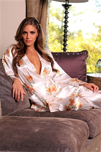 Lovely Day Lingerie Ladies Robe - Floral Print